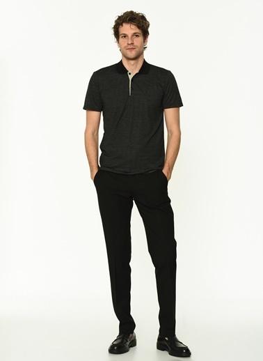 George Hogg Erkek 7004670 Regular Fit Tshirt Siyah